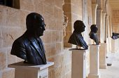 picture of olden days  - Busts of presidents in San Anton Palace  - JPG