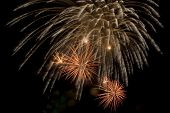picture of guy fawks  - A Guy Fawkes fireworks display explodes in the sky - JPG