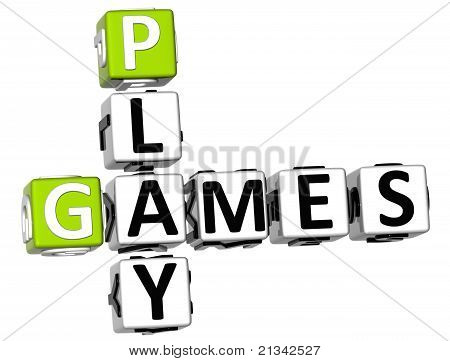 poster of 3D Play Games Crossword
