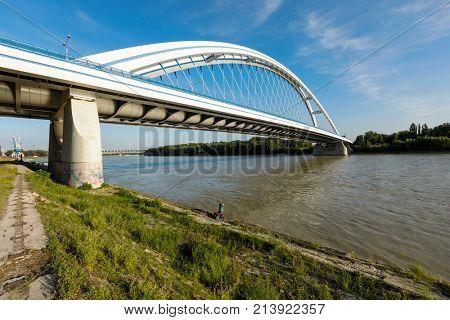 Apollo bridge on Danube river