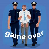 Police Officers Arrested Man In Office Suit poster