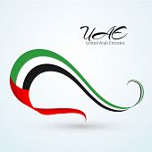 National Flag Of The United Arab Emirates (uae) Ribbon Of Colors Of The Flag With The Text Of The Ua poster