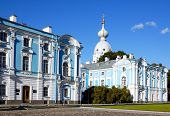 Age-Old Architecture.The Smolny Cathedra Russia. Seint Peterburg. poster