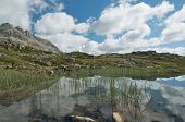pic of engadine  - Alpine landscape in the valley of Engadine - JPG