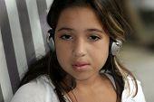 Cute Girl In Headphones poster