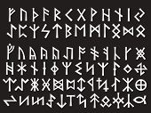 image of thor  - Silver Runic Script - JPG