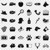 Clever Dog Icons Set. Simple Style Of 36 Clever Dog Icons For Web For Any Design poster