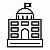 Governance Courthouse Icon. Outline Governance Courthouse Icon For Web Design Isolated On White Back poster