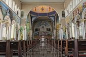 stock photo of assis  - Inside of a catholic cathedral of Assis City Sao Paulo State Brazil - JPG