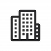 City Icon Isolated On White Background. City Icon In Trendy Design Style For Web Site And Mobile App poster