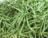stock photo of phaseolus  - Green beans - JPG