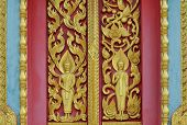 image of woodcarving  - gold color  - JPG