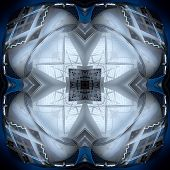 Seamless Symmetrical Pattern Abstract Futuristic Element Texture poster