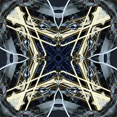 Seamless Symmetrical Pattern Abstract Glossy Machine Texture poster