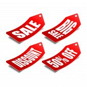 Sale Price Tag Vector Badge Template, Sale Label Symbol, Clearance Sale Sticker Emblem,tag Sale Red  poster