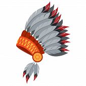 War Bonnet, Feather Headdress. Traditions Of The North American Indians. poster