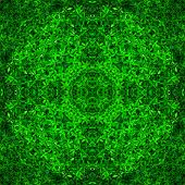 Seamless Symmetrical Pattern Abstract Grass Leaves Texture poster