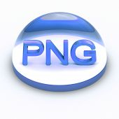 picture of png  - 3D Style file format icon over white background  - JPG