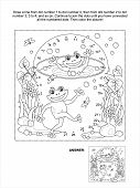 picture of bubble sheet  - Connect the dots picture puzzle and coloring page - JPG