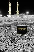 MECCA - JULY 21 : A crowd of pilgrims circumabulate (tawaf) Kaaba on July 21, 2012 in Mecca, Saudi A