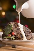 stock photo of christmas dinner  - Chocolate truffle Christmas Puddings - JPG