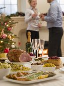 pic of boxing day  - Boxing Day Buffet Lunch Christmas Tree and Log Fire - JPG