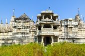 stock photo of jain  - famous Jain Temple in Ranakpur  India Rajasthan - JPG