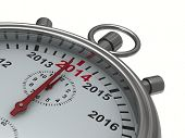 picture of stopwatch  - year calendar on stopwatch - JPG