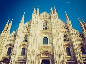 picture of domme  - Vintage looking Milan Cathedral  - JPG