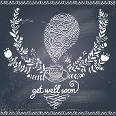 stock photo of get well soon  - Get well soon - JPG