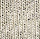 foto of knitting  - Closeup of gray knitted fabric for background - JPG