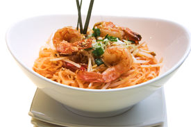 foto of thai food  - traditional thai delicacy made from jumbo shrimps - JPG