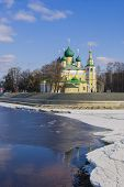 stock photo of uglich  - Transfiguration Cathedral in Uglich on the Volga River - JPG