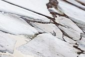 stock photo of shaky  - Cracked ice on Gulf of Finland in Russia - JPG