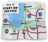 Road map Start-up Success Directions Steps Launch New Company
