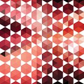 foto of parallelepiped  - Pattern of geometric shapes hexagon - JPG