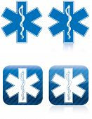 image of medevac  - Emergency medical and rescue symbol rod of asclepius - JPG