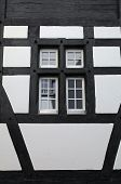 Old Window Of A Medieval Half-timbered House (Switzerland)