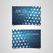 Business Card Template with Abstract Network Design