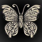 Abstract butterfly. Vector for your design. Rasterized Copy