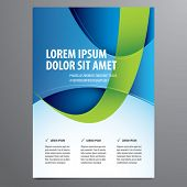 stock photo of brochure  - business flyer - JPG