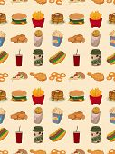 picture of nachos  - seamless fast food pattern - JPG