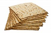 foto of seder  - Stack of Matzo traditional Jewish Passover bread - JPG
