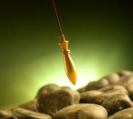 image of pendulum  - Brass pendulum - JPG