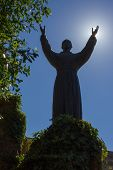 stock photo of patron  - the patron saint of Italy Francis of Assisi who established the order of the Franciscans - JPG