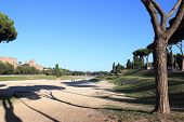 picture of chariot  - The Circus Maximus ancient Roman chariot racing stadium located in Rome Italy.