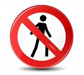 foto of no entry  - No entry vector sign - JPG