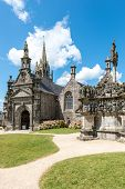 foto of calvary  - The parish close church and calvary Guimiliau Finistere department of Brittany  - JPG