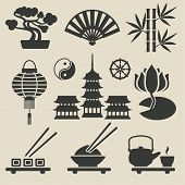 image of dharma  - Asian icons set  - JPG