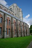 stock photo of veer  - old church in Veere town in Holland - JPG